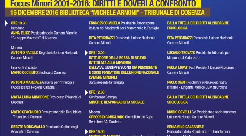 CERIMONIA PER IL 15° ANNO DI FONDAZIONE DELL'UNIONE NAZIONALE CAMERE MINORILI