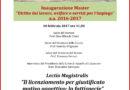 """Lectio Magistralis """" Il licenziamento per giustificato motivo oggettivo: la fattispecie"""""""