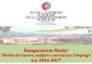 Inaugurazione Master 21 aprile 2017