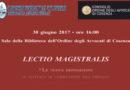 Lectio Magistralis 30 giugno 2017