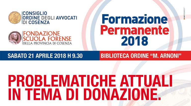 Formazione Permanente del 21 aprile 2018