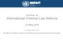 Evento formativo all'Agenzia delle Nazioni Unite UNICRI di Torino, 2 – 4 maggio 2018