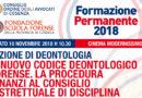 Formazione Permanente del 10 novembre 2018