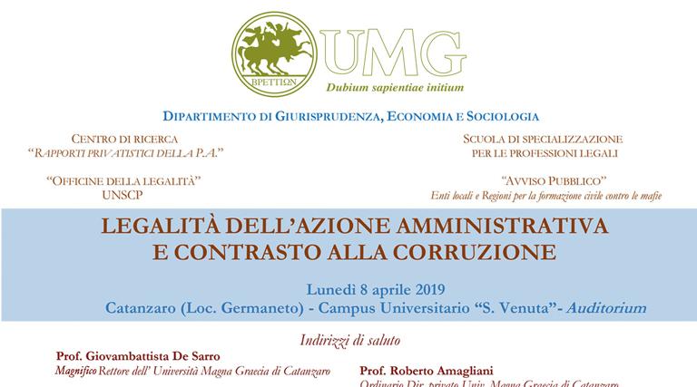 Convegno 8 aprile UMG – Catanzaro