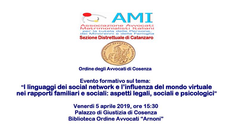 Convegno AMI 5 aprile 2019