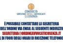 Comunicazione – Segreteria – COACS – 2021