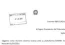 """Comunicazione del Tribunale""""Slittamento istanza web su piattaforma SIAMM"""""""