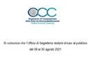 Chiusura Ufficio OCC